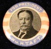 "Image of 8661-61 - Button, William H. Taft; ""For President Taft"""