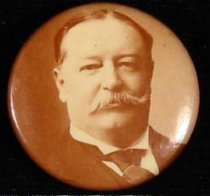 Image of 8661-63 - Button, William H. Taft; Portrait