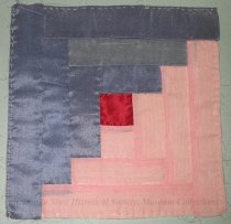 Image of 8756-2-(2) - Quilt Block, Pieced; Log Cabin