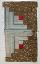 Image of 8756-2-(32) - Quilt Block, Pieced; Log Cabin
