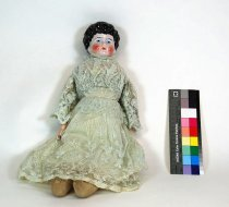 Image of 8758-1 - Doll; Porcelain, Kid & Cloth; Girl; Germany