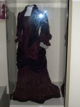 Image of 8767-2333 - Dress, Wine Velvet W/Train; Worn by Sarah White Nance