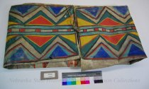 Image of 8781-43 - Bag; Parfleche; Rawhide; Geometric; Triangles