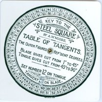 """Image of 8840-1-(2) - Key; A """"Key to the Steel Square""""/Carpenters Device"""