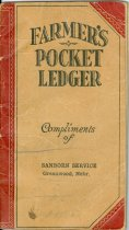 Image of 8910-307 - Farmer's Pocket Ledger with envelope, complements of Sanborn Service