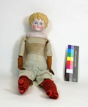 Image of 9004-50 - Doll; Bisque & Cloth; Girl; Germany
