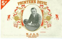 Image of 9086-358 - Label, Cigar Box, Printers Devil, WJAG, Karl Stefan