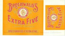 Image of 9086-367 - Label, Cigar Box, Brechwald's Extra Five