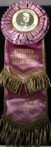 Image of 9098-4 - Badge; William Jennings Bryan; Nebraska Traveling Mens Bryan Club