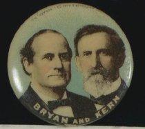Image of 9098-17 - Button, Political; William Jennings Bryan/Kern; Jugate