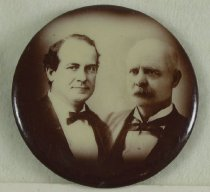 Image of 9100-1 - Button, Political; William Jennings Bryan/Stevenson; Jugate