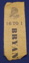 "Image of 9150-2 - Ribbon, Political; William Jennings Bryan; ""16 to 1"""