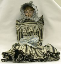 Image of 9173-2664 - Doll; Tin & Leather; Girl