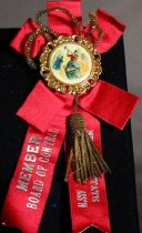 Image of 9316-43 - Button W/Ribbon & Trimmings, Nebraska State Volunteer Firemen's Association