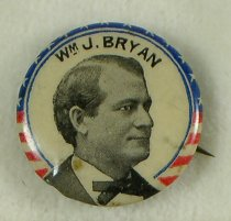 Image of 9358-42 - Button, Political; William Jennings Bryan