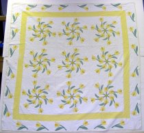 Image of 9406-33 - Quilt, Windblown Tulips