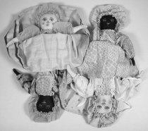 Image of 9410-89 - Doll; Cloth; Girl; Topsy Turvy; Emma Grassman