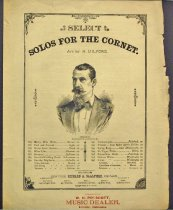 Image of 9559-103 - Sheet Music, Solos for the Coronet; Sold by W.H. Prescott, Music Dealer, Lincoln, NE