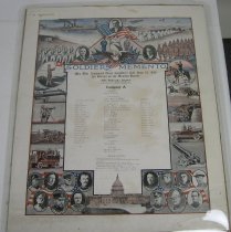 Image of 9650-4 - Poster, Roster, Mexican Border Service, Fifth Nebraska Infantry, Nebraska National Guard