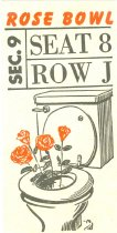 Image of 9654-31 - Ticket for the Rose Bowl