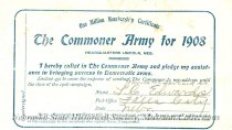 """Image of 9663-43-(15A) - Certificate, Membership; William Jennings Bryan; """"The Commoner Army for 1908"""""""
