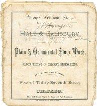 Image of 9817-6 - Catalogue; Phoenix Artificial Stone/Hall & Salisbury