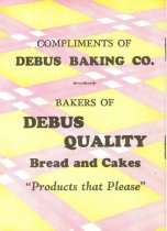 Image of 9805-1001 - Pamphlet, Bread and Delightful Ways to Serve It; Debus Baking Co.