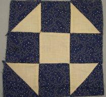 Image of 9805-794-(1) - Block, Quilt; Dark Blue & White Shoo-Fly Pattern, Set 9805-794 (1-4)