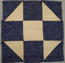 Image of 9805-794-(2) - Block, Quilt; Dark Blue & White Shoo-Fly Pattern, Set 9805-794 (1-4)