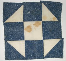 Image of 9805-794-(4) - Block, Quilt; Dark Blue & White Shoo-Fly Pattern, Set 9805-794 (1-4)