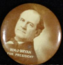 Image of 9824-1 - Button, Political; William Jennings Bryan