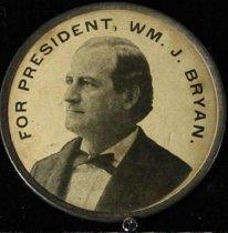 Image of 9824-2 - Badge; William Jennings Bryan