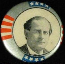Image of 9824-3 - Button, Political; William Jennings Bryan