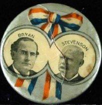 Image of 9824-4 - Button, Political; William Jennings Bryan/Stevenson; Jugate