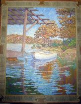 "Image of 9857-29 - Painting, Oil, ""Lake of the Ozarks"", T. B. Johnson; Title-""Giants in the Earth"""