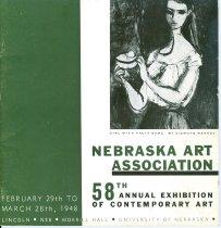 Image of 9857-313 - Catalog, Exhibit, Nebraska Art Association