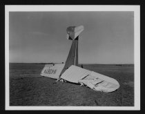 Image of Crashed Airplane, Lincoln Airport