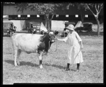 Image of Beatrice Simmons with Calf at State Fair
