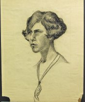Image of 9857-130 - Portrait, Lady, Charcoal