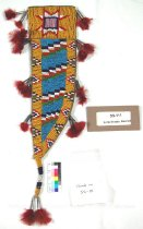 Image of SS-111 - Knife Sheath, Beaded; 8 Point Star & Feathers