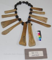 Image of SS-112 - Necklace; Fragment; Horse Teeth; Mescal Beans