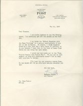 Image of RG4121.AM.S1.SS1.F8. Saturday Evening Post Letter May 14, 1948