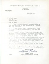 Image of RG4121.Am.S1.SS1.F7 Foundation for Infantile Paralysis Letter Nov 6 1950 A