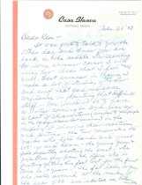 Image of RG4121.AM.S1.SS1.F4. Casa Blanca Letter February 23, 1948 pg1 Front