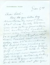 Image of RG4121.AM.S1.SS1.F4. Connemara Farm Letter January 8, 1949 pg. 1 Front