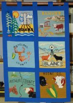 Image of 10855-1 - Tapestry, Panel, Bicentennial; NE Council of Home Extension Clubs Tapestry