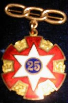 Image of 11936-1 - Independent Order of Odd Fellows 25 Years Service Badge