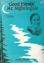 Image of 11055-2446 - Sheet Music, Good Evenin Mr. Nightingale; Ruth Etting