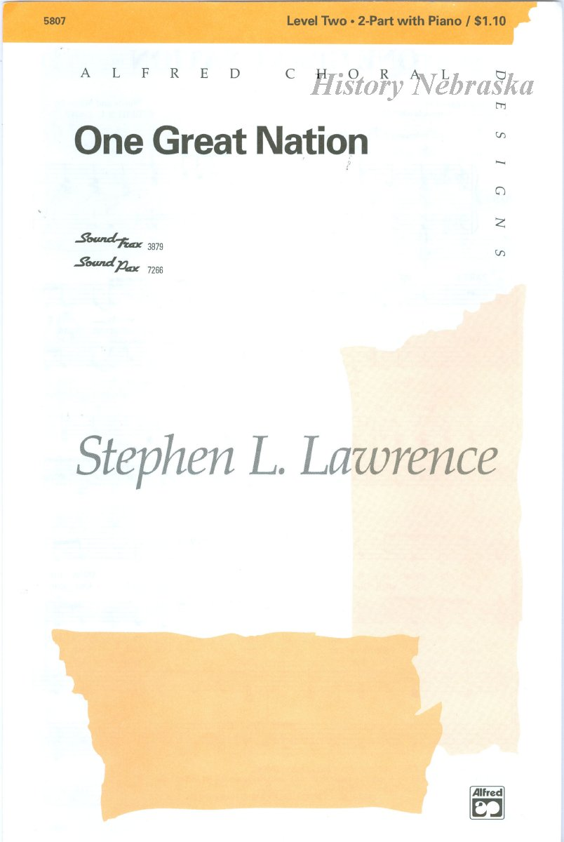 11580-3 - Sheet Music, One Great Nation