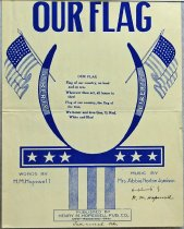 Image of 7294-6946 - Sheet Music, Our Flag; Music-Mrs. Morton Jamison, Words by Henry Hopewell